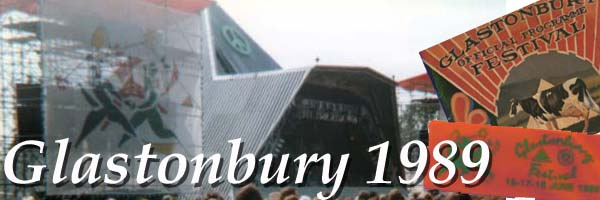Glastonbury 89 banner