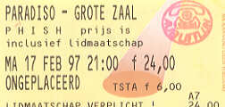 Ticket from amsterdam