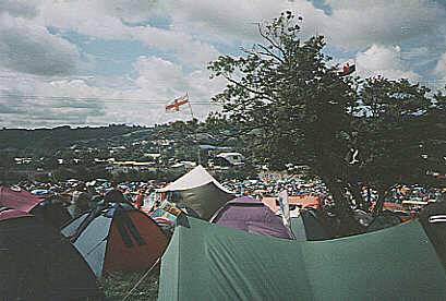 Glastonbury from our tent